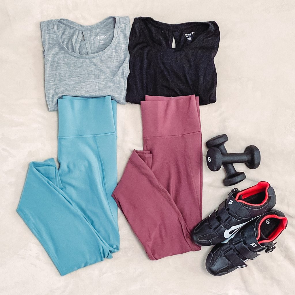compression leggings, back tie tank tops